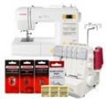 Janome Magnolia 7330 and MyLock 634D Overlock Serger Combo